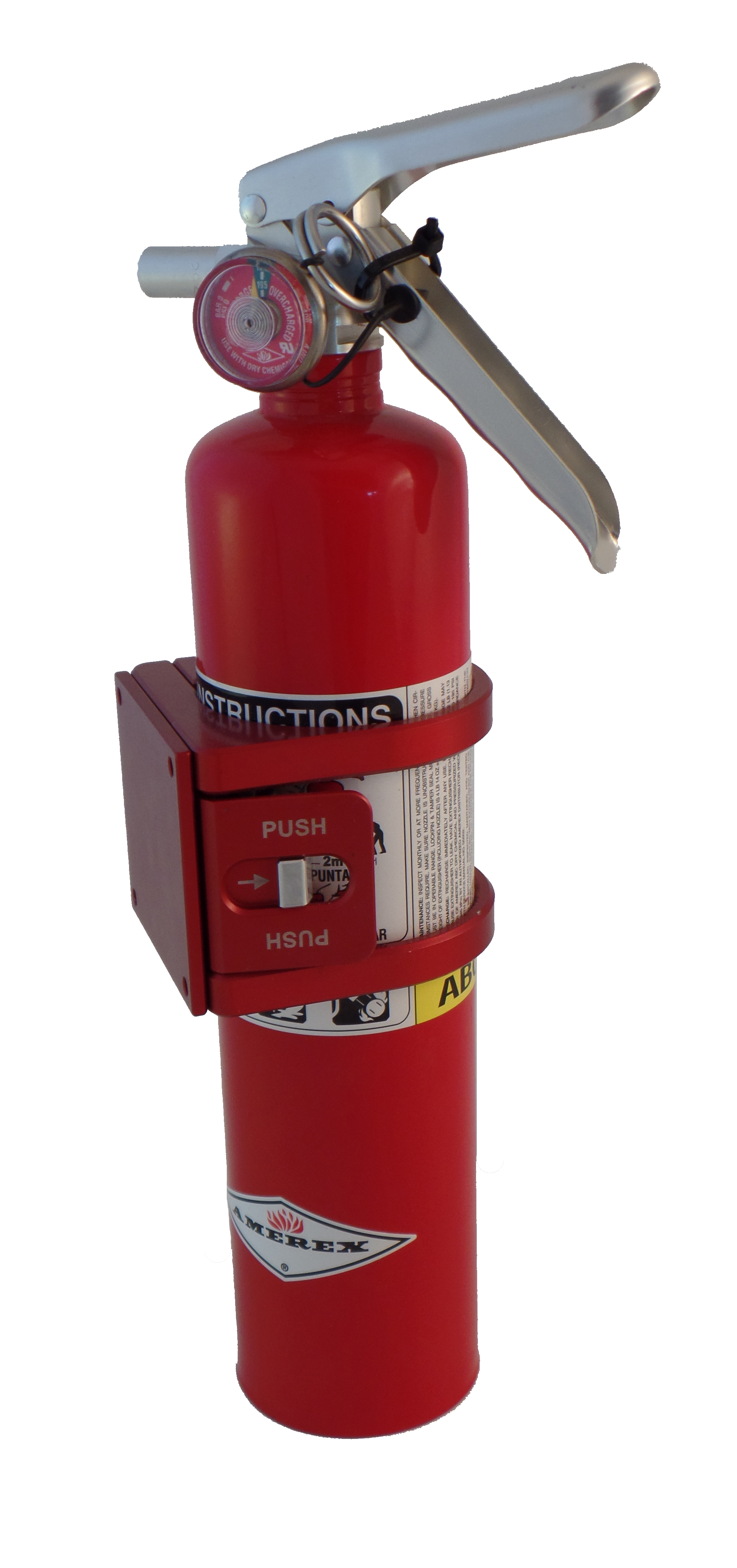 Quick Release Fire Extinguisher Mount With Flat Base Tek208